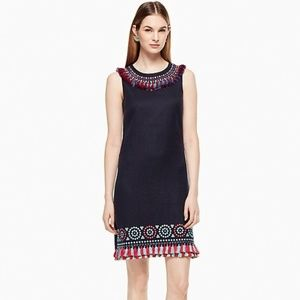 Kate Spade Embroidered Tassel Dress